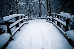 桥梁雪 库存图片