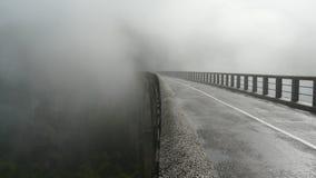 桥梁雾 免版税库存照片