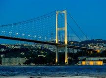 桥梁,伊斯坦布尔,土耳其 库存照片
