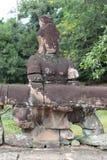 桥梁,吴哥窟,柬埔寨细节  库存图片