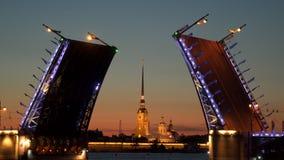 桥梁离婚的宫殿 在圣彼德堡 股票录像