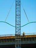 桥梁建筑工作 免版税库存图片