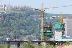 桥梁建筑站点 库存照片
