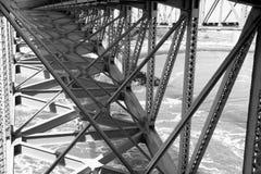 桥梁建筑细节 免版税图库摄影