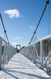 冻桥梁 库存图片