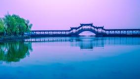 画廊桥梁 库存图片