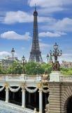 桥梁Alexandre III。 免版税库存图片