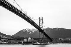 桥梁BC门狮子温哥华 免版税库存图片