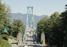 桥梁BC门狮子温哥华 库存照片