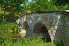 桥梁burnside creekside 免版税库存照片