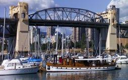 桥梁burrard加拿大温哥华 库存图片