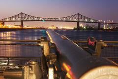桥梁cartier jacques ・蒙特利尔 免版税库存照片