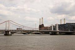 桥梁chelsea伦敦 免版税库存照片