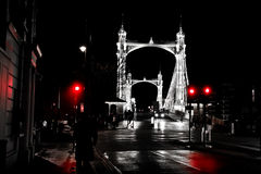 桥梁chelsea伦敦 图库摄影