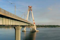 桥梁cherepovets 10月俄国 库存图片