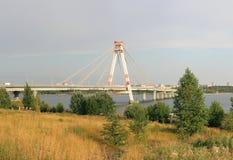 桥梁cherepovets 10月俄国 免版税库存照片