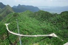 桥梁chinchang gunung langkawi席子pulau天空 库存照片