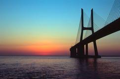 桥梁da gama瓦斯考 库存照片