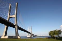 桥梁da gama里斯本瓦斯考 库存照片