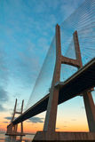 桥梁da gama里斯本葡萄牙瓦斯考 库存照片