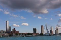 桥梁erasmus鹿特丹 库存图片