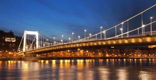 桥梁erzsebet 图库摄影
