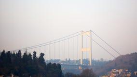 桥梁fatih mehmet苏丹 伊斯坦布尔,土耳其 免版税库存图片