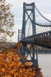 桥梁FDR中间的哈德森 免版税库存图片