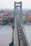 桥梁FDR中间的哈德森 库存图片