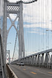 桥梁FDR中间的哈德森 图库摄影