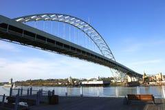 桥梁fremont波特兰 免版税库存照片