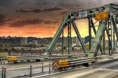 桥梁hawthorne俄勒冈波特兰 免版税库存图片