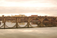 桥梁henley knoxville街道 免版税库存图片