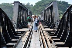 桥梁kanchaburi kwai河泰国 库存照片