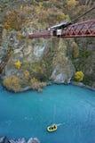 桥梁kawarau新的南西兰 免版税库存照片