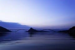桥梁Krk,克罗地亚 库存图片