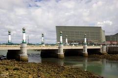 桥梁kursaal San Sebastian 库存照片