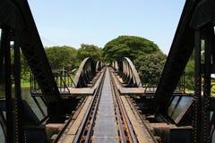 桥梁kwai河 库存图片