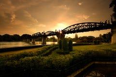 桥梁kwai riwer 库存图片