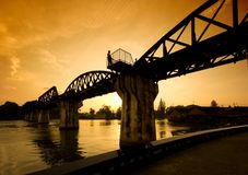 桥梁kwai riwer 图库摄影