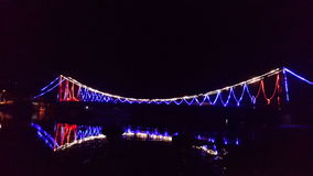 桥梁lembongan的努沙 免版税图库摄影