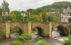 桥梁llangollen北部威尔士 库存图片