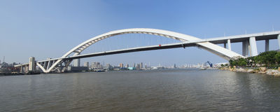 桥梁lupu上海 免版税图库摄影