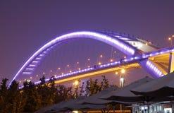 桥梁lupu晚上 库存照片