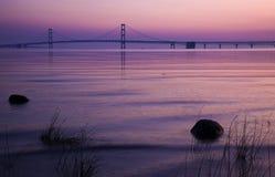 桥梁mackinac密执安 免版税库存图片