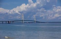 桥梁mackinac 免版税图库摄影