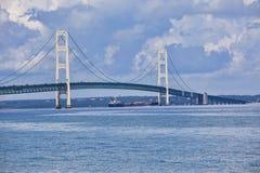 桥梁mackinac 免版税库存照片