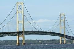 桥梁mackinac 库存图片