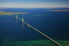 桥梁mackinac 图库摄影