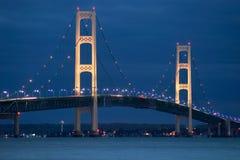 桥梁mackinaw 免版税图库摄影